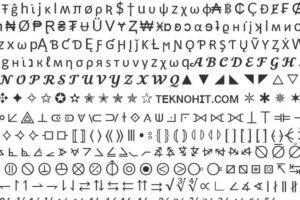 şekilli yazılar, semboller, karakterler